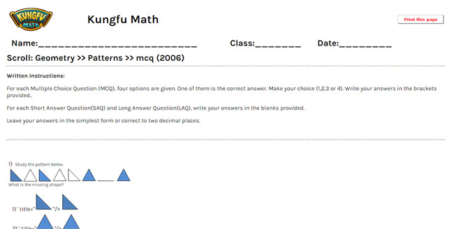 Math Grade 1 Geometry Worksheets and Resources Singapore Math – Singapore Maths Worksheets