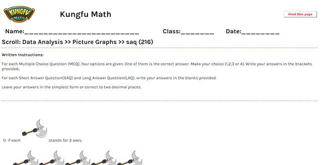 Math Grade 2 Data Analysis Worksheets and Resources Singapore Math – Written Document Analysis Worksheet Answers