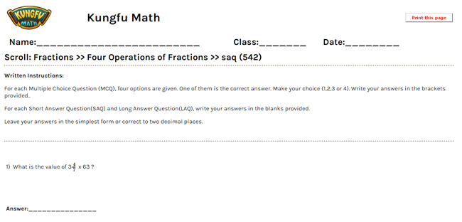 Math Grade 5 Fractions Worksheets and Resources Singapore Math – Year 5 Fractions Worksheets