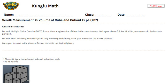 Math Grade 5 Measurement Worksheets and Resources - Singapore Math