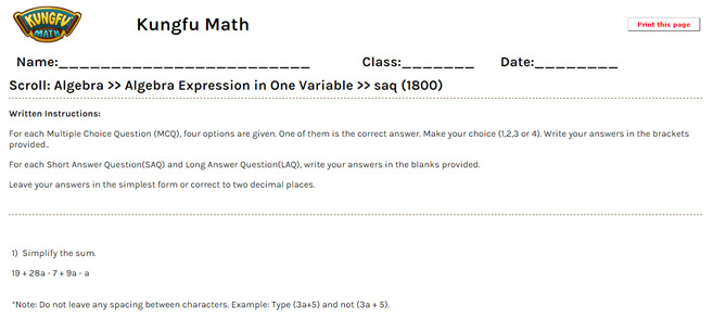 math worksheet : math grade 6 algebra worksheets and resources  singapore math : Math Worksheets For Grade 6 Algebra