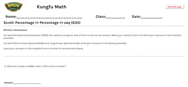 math worksheet : math grade 6 percentage worksheets and resources  singapore math : Percentage Math Worksheets